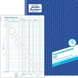 Kassenabrechnung A4 2x50Blatt mit Blaupapier Zweckform 427 Produktbild