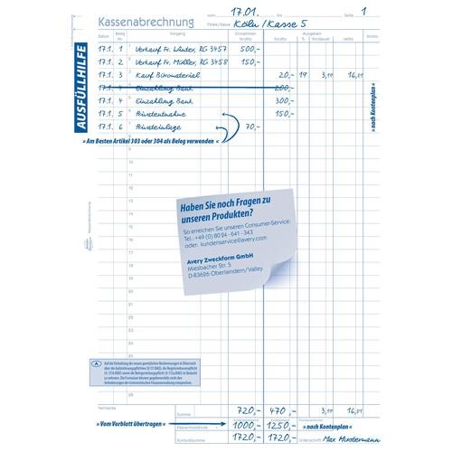 Kassenabrechnung A4 2x50Blatt mit Blaupapier Zweckform 428 Produktbild Additional View 4 L