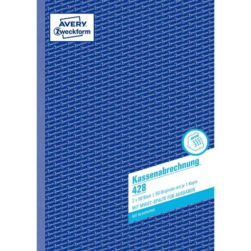 Kassenabrechnung A4 2x50Blatt mit Blaupapier Zweckform 428 Produktbild Additional View 1 L