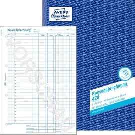 Kassenabrechnung A4 2x50Blatt mit Blaupapier Zweckform 428 Produktbild