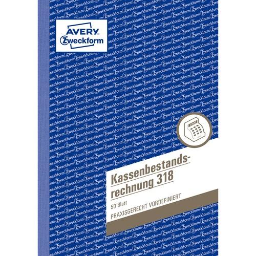 Kassenbestandsbuch A5 hoch 50Blatt Zweckform 318 Produktbild Additional View 1 L