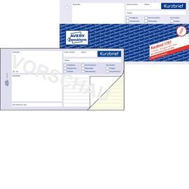 Kurzbrief 1/3 A4 2x40Blatt selbstdurchschreibend Zweckform 1741 Produktbild