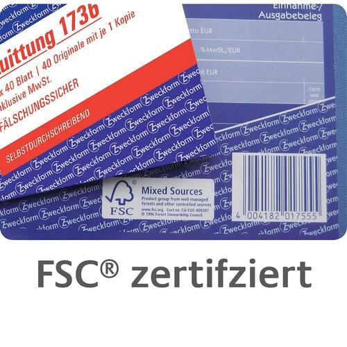 Kurzbrief 1/3 A4 2x40Blatt selbstdurchschreibend Zweckform 1741 Produktbild Additional View 6 L
