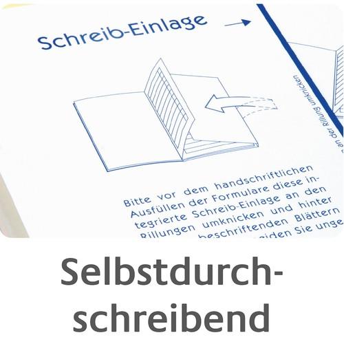 Kurzbrief 1/3 A4 2x40Blatt selbstdurchschreibend Zweckform 1741 Produktbild Additional View 7 L