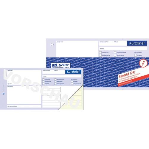 Kurzbrief 1/3 A4 2x40Blatt selbstdurchschreibend Zweckform 1741 Produktbild Additional View 3 L