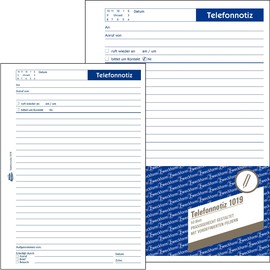 Telefonnotizblock A5 hoch 50Blatt Zweckform 1019 Produktbild