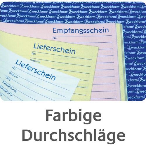 Lieferscheinbuch A5 hoch 2x50Blatt mit Blaupapier Zweckform 726 Produktbild Additional View 3 L