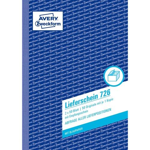 Lieferscheinbuch A5 hoch 2x50Blatt mit Blaupapier Zweckform 726 Produktbild Additional View 1 L