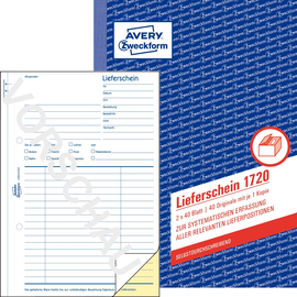 Lieferscheinbuch A5 hoch 2x40Blatt selbstdurchschreibend Zweckform 1720 Produktbild