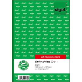 Lieferscheinbuch A5 hoch 2x40Blatt selbstdurchschreibend Sigel SD011 Produktbild