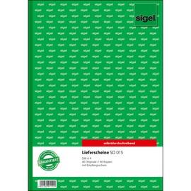 Lieferscheinbuch A4 2x40Blatt selbstdurchschreibend Sigel SD015 Produktbild