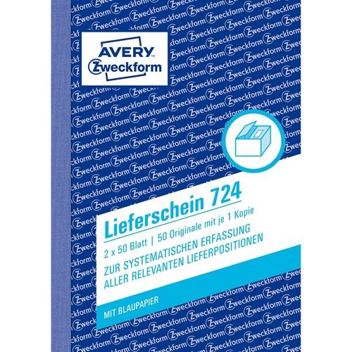 Lieferscheinbuch A6 hoch 2x50Blatt mit Blaupapier Zweckform 724 Produktbild Additional View 1 L