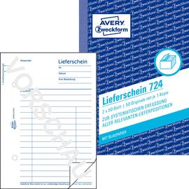 Lieferscheinbuch A6 hoch 2x50Blatt mit Blaupapier Zweckform 724 Produktbild