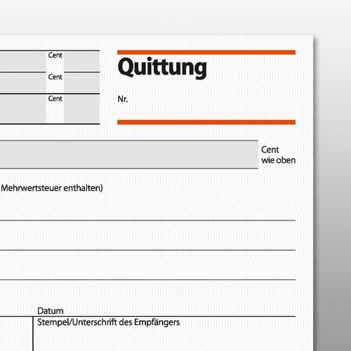 Quittungsblock A6 quer 3x50Blatt mit Blaupapier Sigel QU635 Produktbild Additional View 2 L
