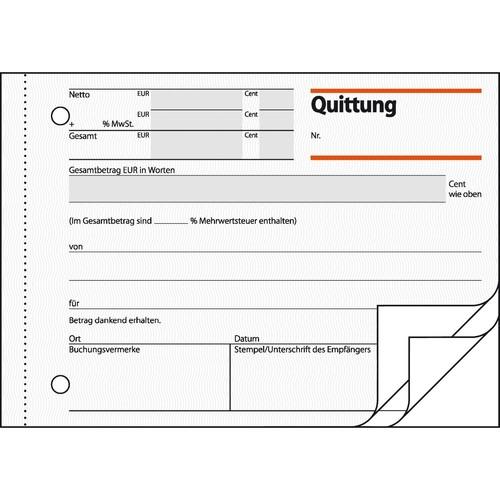 Quittungsblock A6 quer 3x50Blatt mit Blaupapier Sigel QU635 Produktbild Additional View 3 L