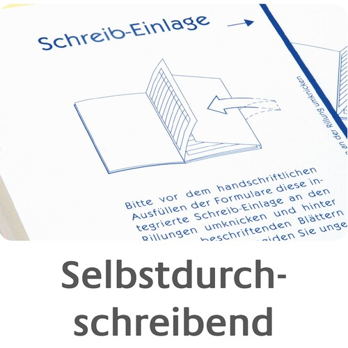 Rapport/ Regiebericht A5 hoch 2x40Blatt selbstdurchschreibend Zweckform 1770 Produktbild Additional View 6 L