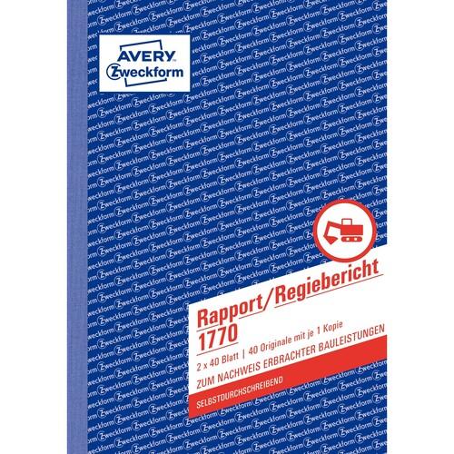 Rapport/ Regiebericht A5 hoch 2x40Blatt selbstdurchschreibend Zweckform 1770 Produktbild Additional View 1 L