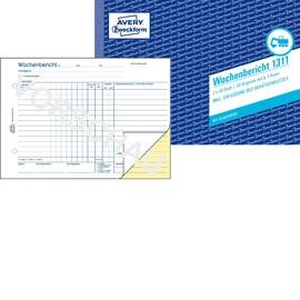 Wochenbericht A5 quer 2x50Blatt mit Blaupapier Zweckform 1311 Produktbild