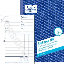 Rechnungsbuch A5 hoch 2x50Blatt mit Blaupapier Zweckform 704 Produktbild
