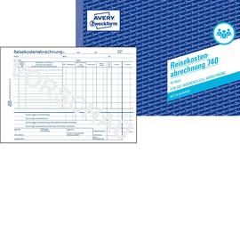 Reisekostenabrechnung wöchentlich A5 50Blatt mit Blaupapier Zweckform 740 Produktbild