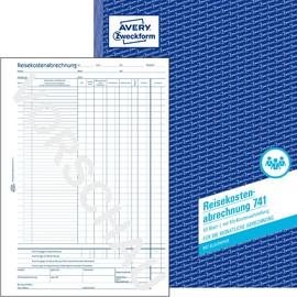 Reisekostenabrechnung monatlich A4 50Blatt mit Blaupapier Zweckform 741 Produktbild