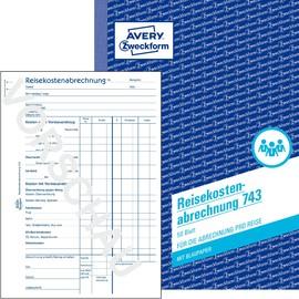 Reisekostenabrechnung für Einzelreisen A5 50Blatt mit Blaupapier Zweckform 743 Produktbild