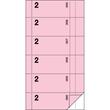 Bonbuch 360 Abrisse 105x200mm 2x60Blatt rosa mit Blaupapier Sigel BO002 Produktbild Additional View 2 S