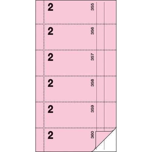 Bonbuch 360 Abrisse 105x200mm 2x60Blatt rosa mit Blaupapier Sigel BO002 Produktbild Additional View 2 L