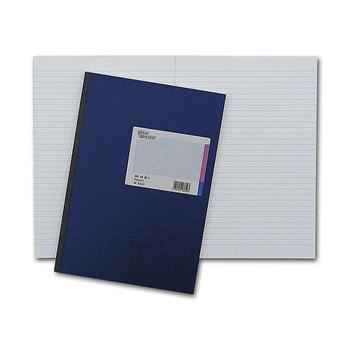 Geschäftsbuch liniert A4 96Blatt blau mit hochglanz Deckelpappe und Strukturprägung König & Ebhardt 86-14172 Produktbild Front View L