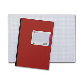 Geschäftsbuch kariert A4 96Blatt rot hochglanz Deckelpappe und Strukturprägung König & Ebhardt 86-14272 Produktbild