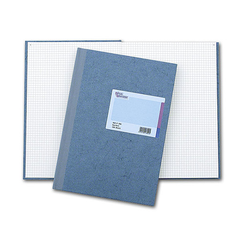 Geschäftsbuch kariert A4 144Blatt Leder-Folienprägung König & Ebhardt 86-14223 Produktbild Front View L