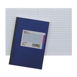 Geschäftsbuch liniert A5 72Blatt blau hochglanz Deckelpappe mit Strukturprägung König & Ebhard 86-15177 Produktbild