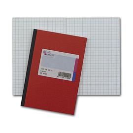 Geschäftsbuch kariert A5 72Blatt rot hochglanz Deckelpappe mit Strukturprägung König & Ebhard 86-15277 Produktbild
