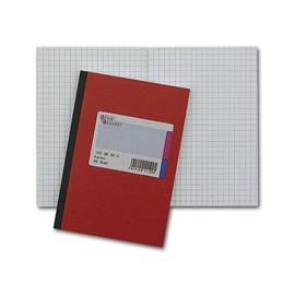 Geschäftsbuch kariert A5 48Blatt rot hochglanz Deckelpappe mit Strukturprägung König & Ebhard 86-15271 Produktbild