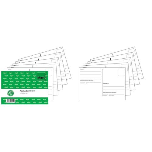 Postkarten A6 quer geheftet Sigel PH610 (ST=10 BLATT) Produktbild Additional View 2 L