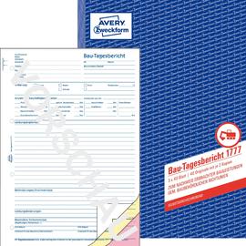 Bau-Tagesbericht A4 3x40Blatt selbstdurchschreibend Zweckform 1777 Produktbild