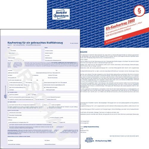 Kaufvertrag für gebrauchtes Kfz A4 4Blatt selbstdurchschreibend Zweckform 2880 Produktbild