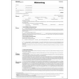 Mietvertrag ehemals Einheitsmietvertrag A4 4-seitig Sigel MV464 Produktbild