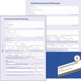 Einheitsmietvertrag A4 4-seitig Zweckform 2849 Produktbild