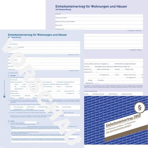 Einheitsmietvertrag A4 6-seitig Zweckform 2850 Produktbild Additional View 3 L