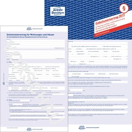 Einheitsmietvertrag 4-seitig mit Kopie selbstdurchschreibend Zweckform 2873 Produktbild