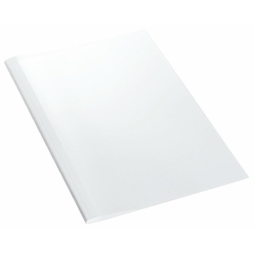 Thermo-Bindemappen A4 4mm weiß +transparent Standard Leitz 177160 (PACK=100 STÜCK) Produktbild Front View L