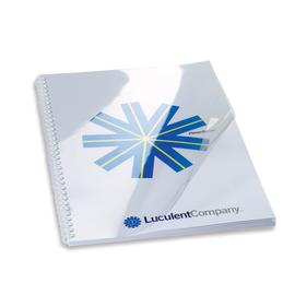 Einbanddeckel HiClear A4 200µ transparent kristallklar GBC CE012080E (PACK=100 STÜCK) Produktbild