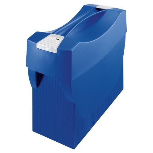 Hängemappenbox SWING-PLUS 397x154x347mm mit Deckel blau HAN 1901-14 Produktbild Additional View 1 L