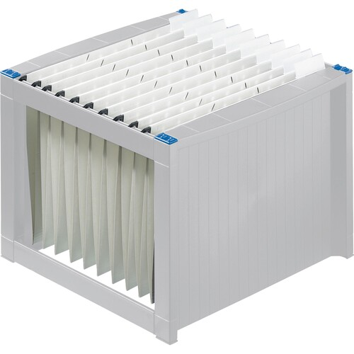 Hängeregistraturgestell 360x380x272mm lichtgrau/blau Helit H6110084 Produktbild