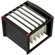 Hängeregistraturgestell 360x380x272mm schwarz/rot Helit H6110092 Produktbild