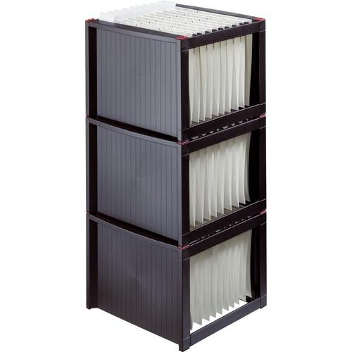 Hängeregistraturgestell 360x380x272mm schwarz/rot Helit H6110092 Produktbild Additional View 1 L