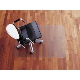 Bodenschutzmatte für Hartböden Form E rechteckig 121x92cm, 2mm stark transparent Polycarbonat Rexel 1300092 Produktbild