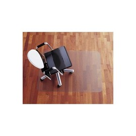 Bodenschutzmatte für Hartböden Form E rechteckig 121x152cm, 2mm stark transparent Polycarbonat Rexel 1300096 Produktbild