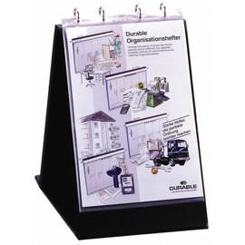 Tisch-Flipchart ECONOMY A4 quer mit 10 Hüllen schwarz kunststoff Durable 8561-01 Produktbild